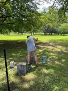 Disc Golf Course Install